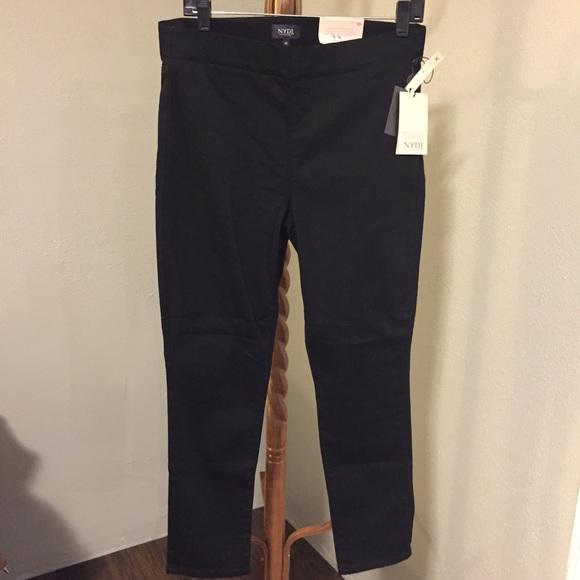 NYDJ Pants - NYDJ Women 10 Pull on Skinny Ankle Jean side slit
